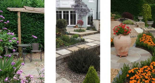 selection of finished garden projects