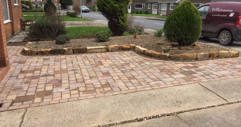finished driveway extension