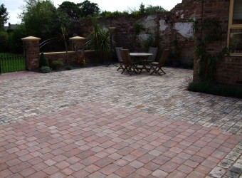 finished paved courtyard
