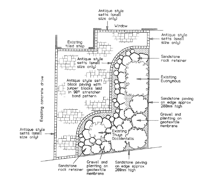 driveway extension plan