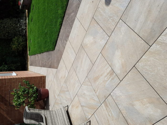 process of porcelain patio