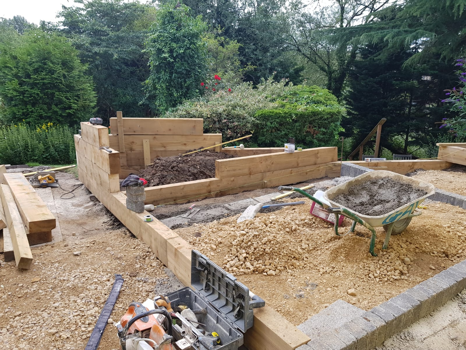 Wyness garden construction