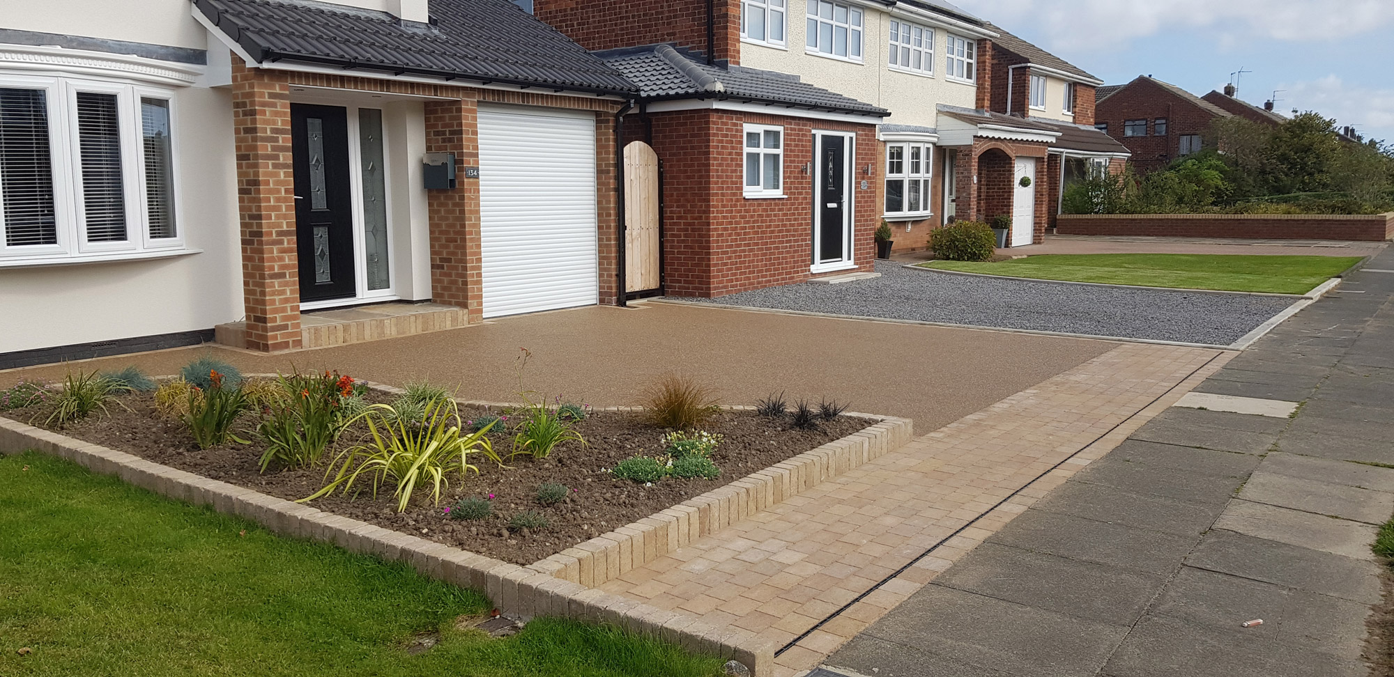 complete resin base driveway and house