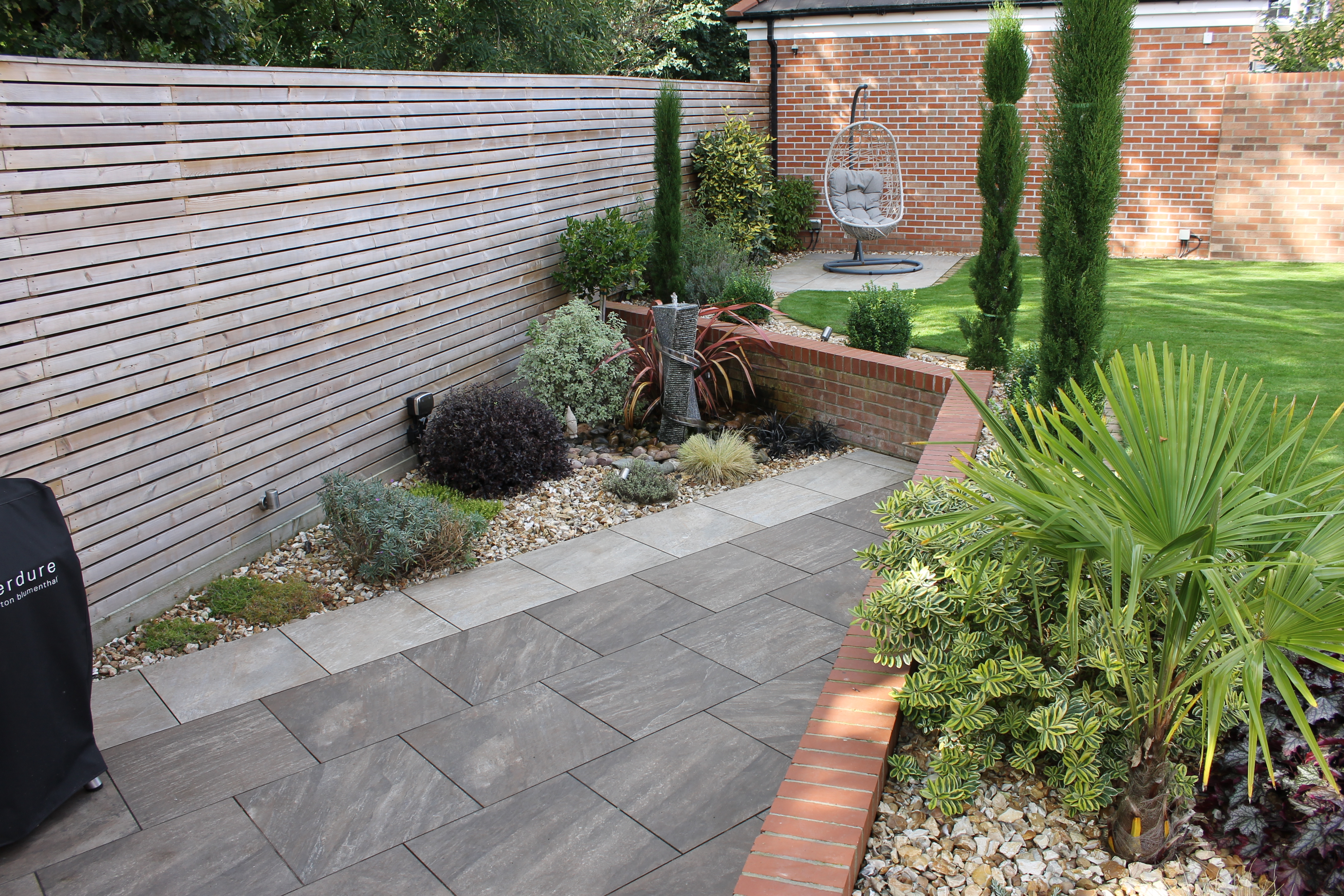 paved area with wall