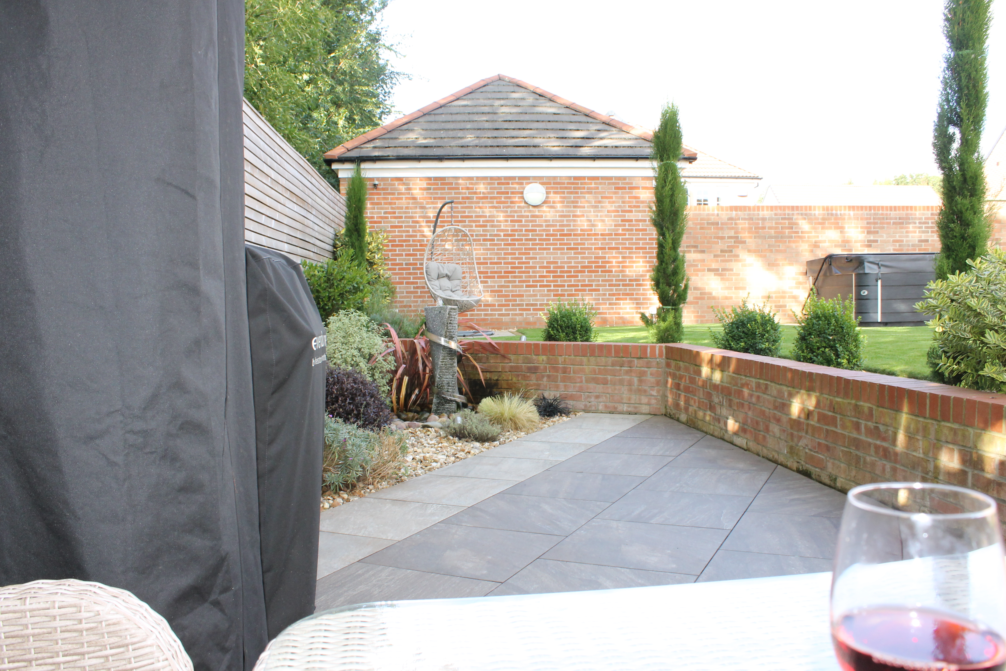 paved area in garden