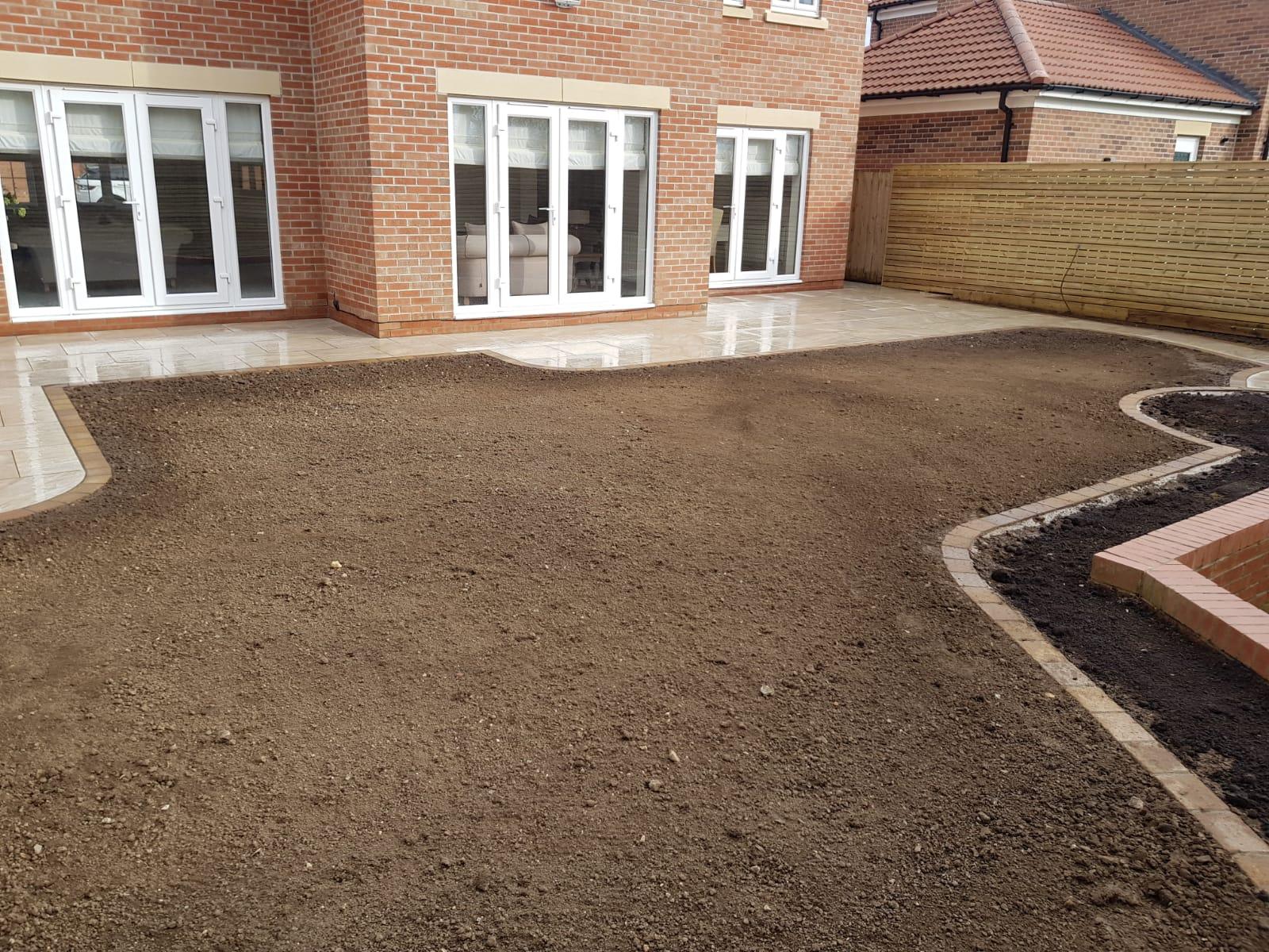 grass area laying process