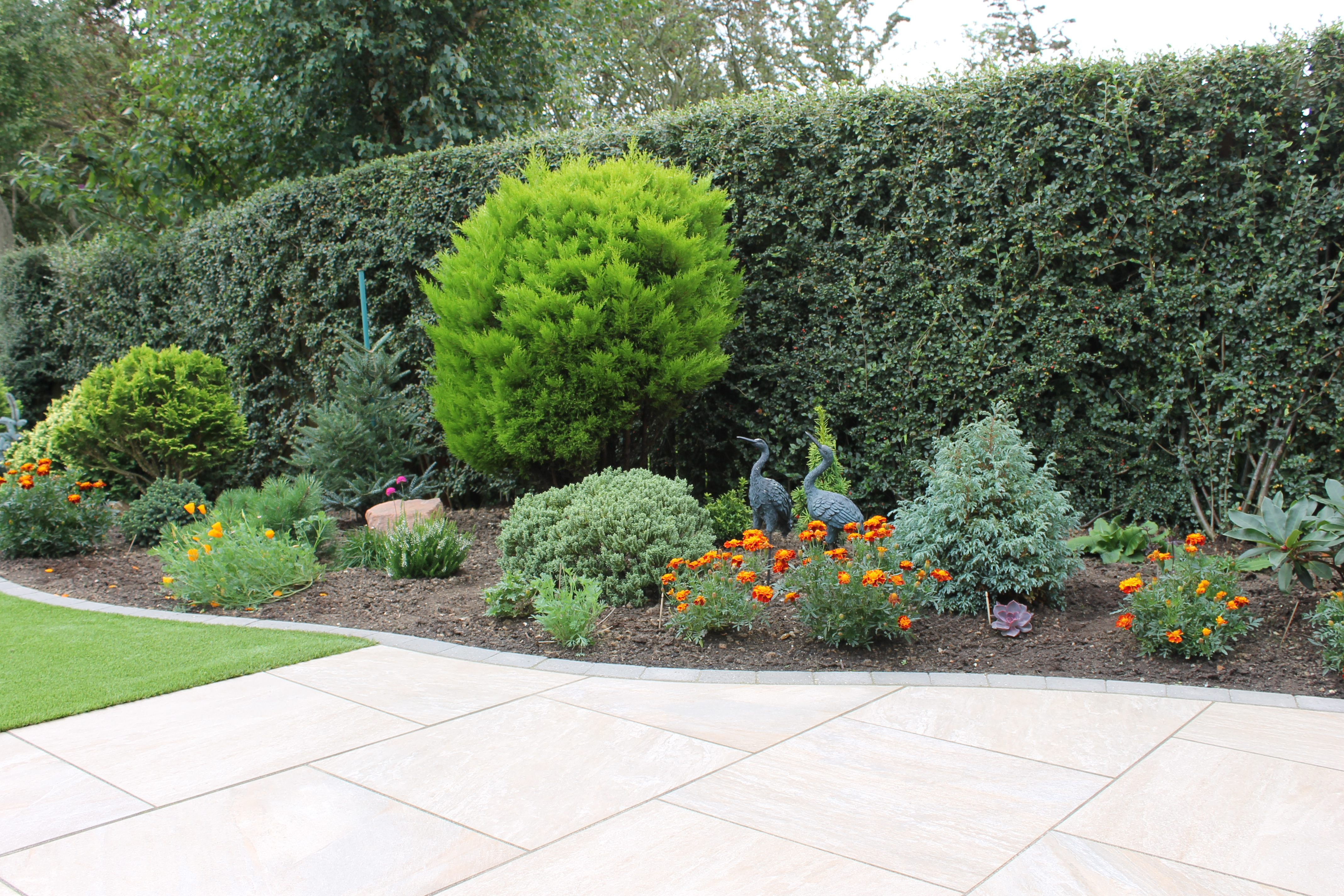 hedging and paving
