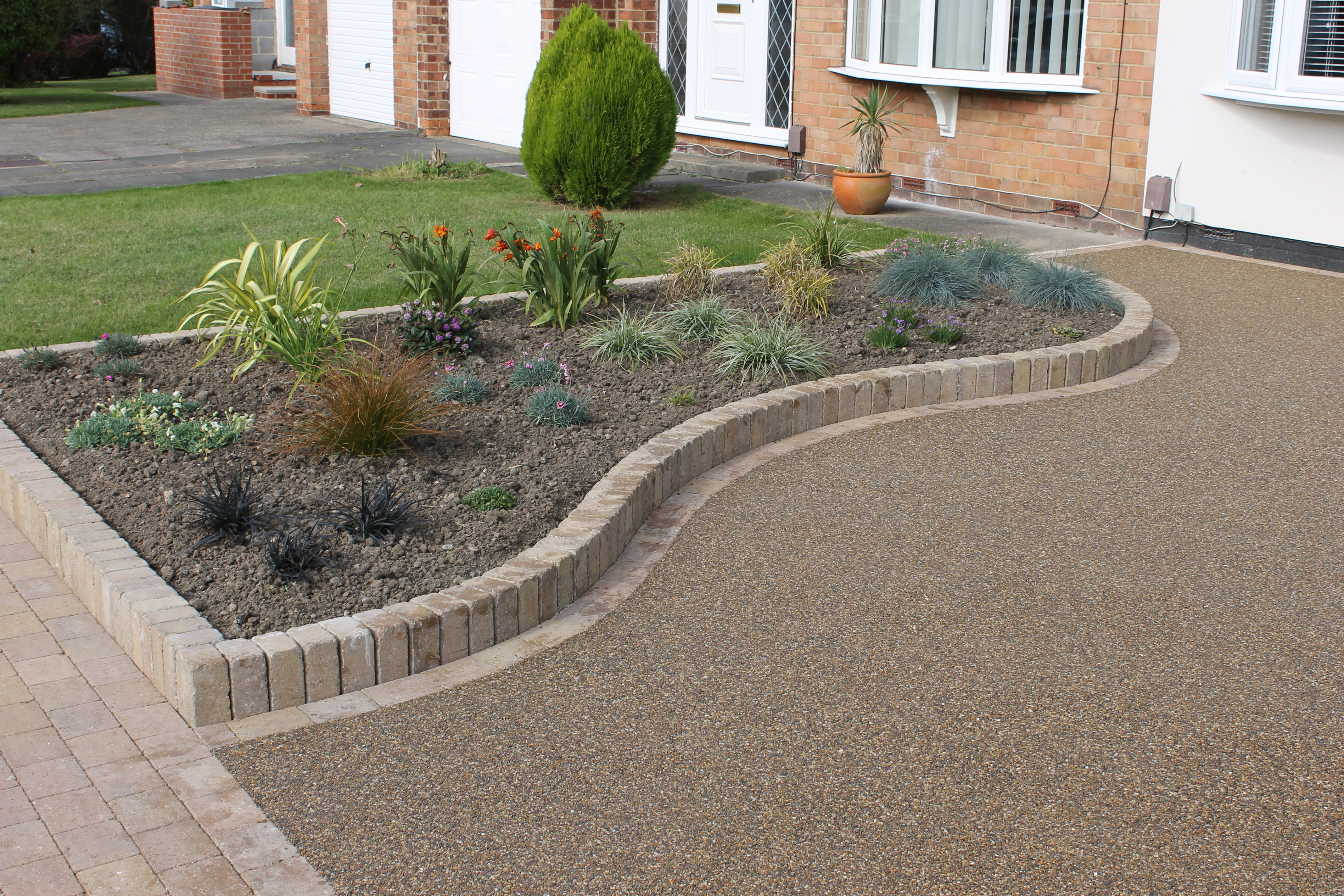 Flowerbeds, made with quality top soil