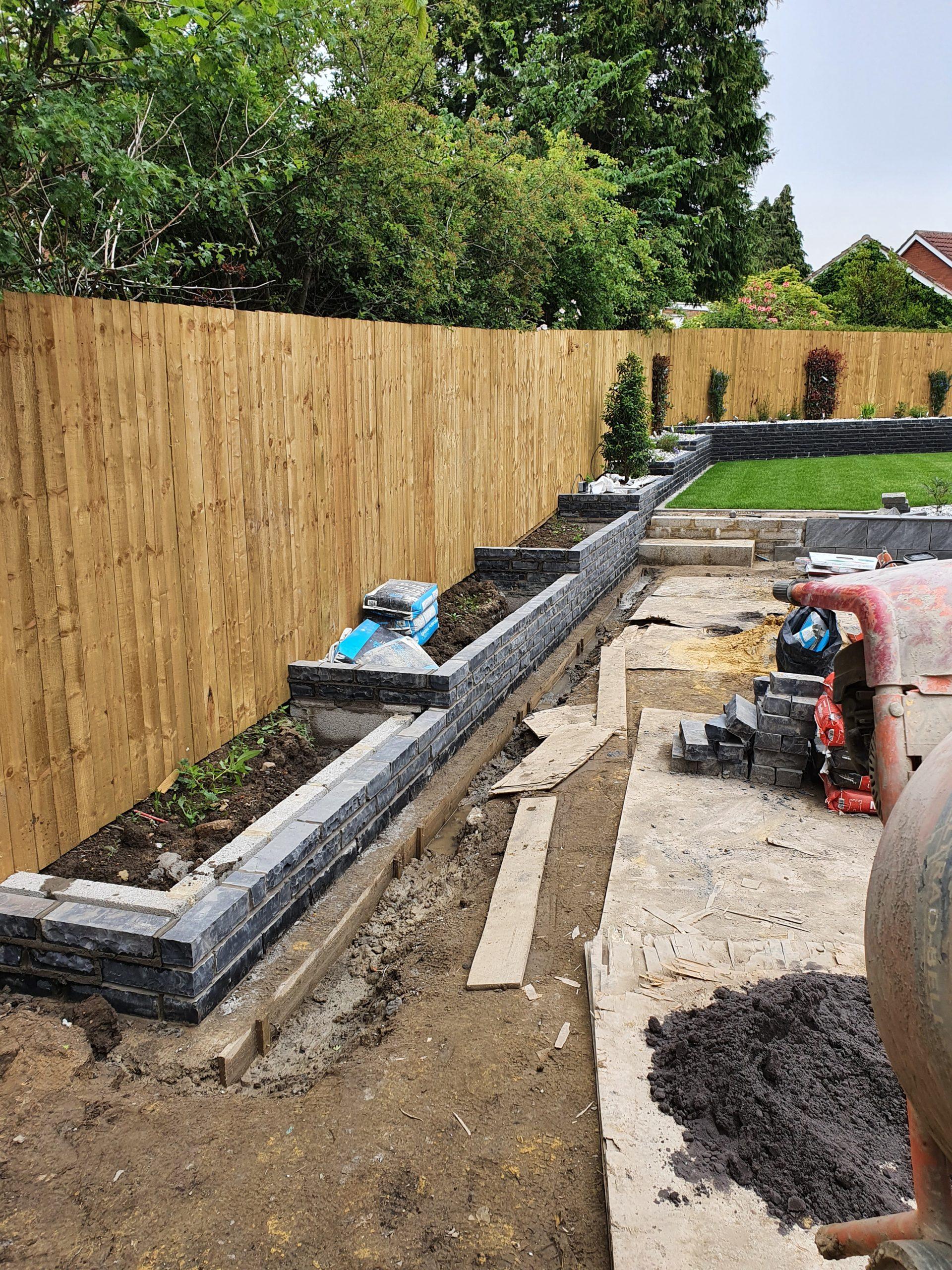 Garden work being completed